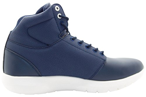 Crosshatch New Mens Shoes Designer Mid High Ankle Light Weight Sneakers Trainers Dress Blue