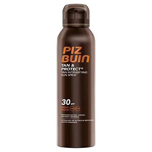 Piz Buin Tan und Protect Tan Intensiving Spray LSF 30, Bräunungsbeschleunigendes Öl Spray für eine intensive Bräune mit effektivem Schutz, 150 ml