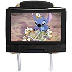 """Hikig Support Voiture Appui-tête Housse de Protection pour 11,5 '' Lecteur DVD Portable 9.5"""" écran Orientable - Noir"""