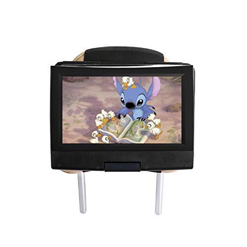 Hikig Auto Kopfstütze Halterung für 7-11 Zoll Drehgelenk & Flip Tragbarer DVD Player / Fit für alle Swivel und Flip-Typ tragbare DVD-Player unter 12 Zoll - Schwarz