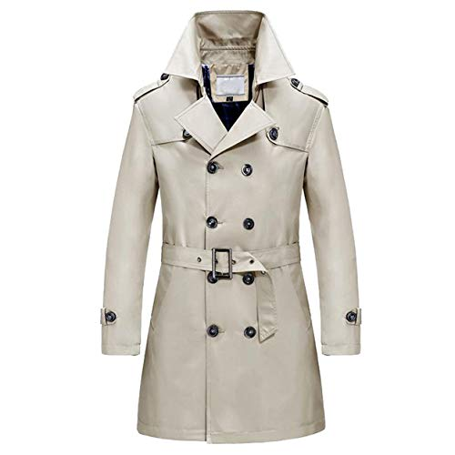 Männer Laple Windjacke Mann Lange Jacken Junge Winter Schlank Lange Graben Knöpfe Reißverschluss Mantel Warme Jacke Mantel Moonuy