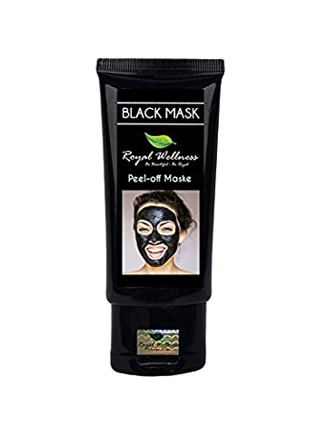 Royal Wellness - Legendary Peel Off Mask - Black Mask for men and woman - Best Blackhead Peel off Mask - Blackhead Killer Effect - Anti-pimple Mask - Black Pimples Killer Facial Mask - Exfoliating & Cleansing Masks