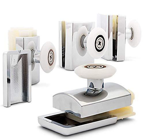 4 x Duschkabinenrollen Türrollen Schiebetürbeschlag Glastürrolle M01C 26mm