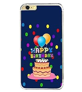PrintVisa Designer Back Case Cover for Apple iPhone 6 Plus :: Apple iPhone 6+ (Happy Birthday Birthday Cake Baloons)