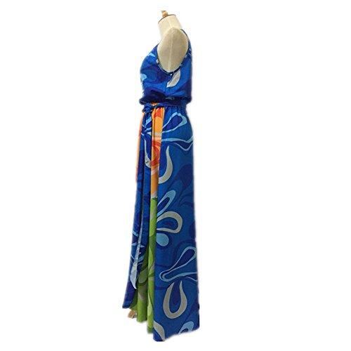 OOFAY Sommerhalter sleeveless Druckkleid multicolor