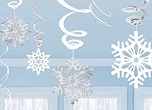 Amscan Swirls Snowflake Value Pack
