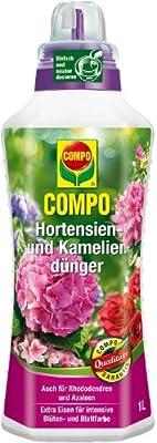 Compo 22556 Hortensien-, Azaleen-, Kamelien-, Rhododendrondünger 1 L von Compo - Du und dein Garten