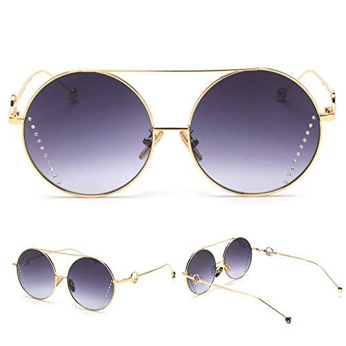 d33ae64adb CHENGZI Gafas De Sol De Diamantes De Imitación Para Mujeres Gafas De Sol  Redondas Para Mujeres