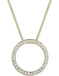 Elli - Collier Femme - Argent 925/1000 Cristal