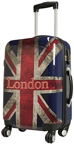 Union Jack Taille XL carbone/rigide Valise à roulettes en polycarbonate Case FA. Valise bowatex