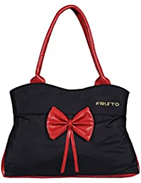 Fristo Women's Handbag(FRB-202)Black And Red