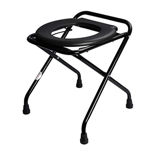 EGCLJ Komfort-Toilettensitz-Stuhl - Verstärkter Faltbarer Toilettenstuhl - Toiletten-Schemel - Bequemes Töpfchen Für Erwachsene Und Kinder - Für Das Kampieren, Den Strand, Das Wandern