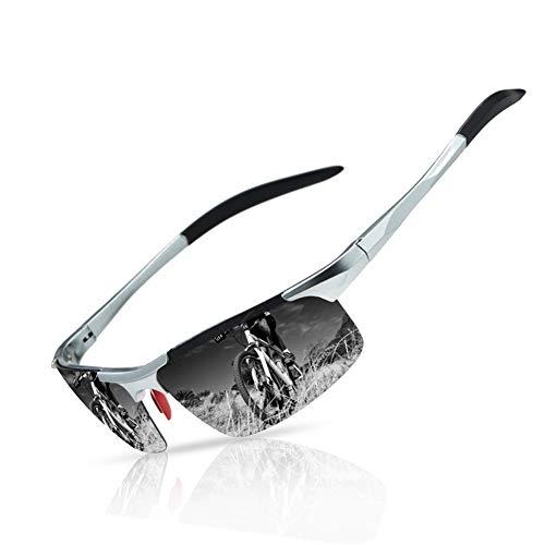 DGDD Herren Hot Retro Driving Polarized Sonnenbrille Metallrahmen UV 400 Schutz