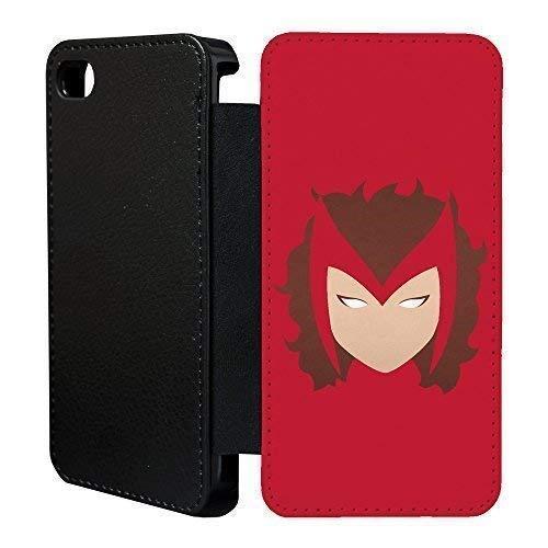 Dc Marvel-Superhelden Comics Minimal Flip Tasche Geldbörse für Apple IPHONE 5 - 5 S - Scarlet Hexe - G1080