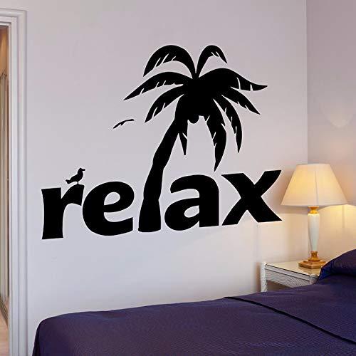 Stil, Palm-baum-lampe (yuandp Entspannen Palm Wandaufkleber Tropische Pflanzen Wandtattoo s Wohnkultur Vinyl Wandkunst Wand Baum Strand Entspannen Stil Tapete Kunst 42 * 52 cm)
