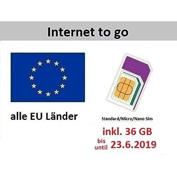 Prepaid Karte Internet.Prepaid Daten Sim Karte Mobiles Internet Für Die Ganze Eu Mit 36 Gb Italien Spanien Frankreich österreich Deutschland Schweden Griechenland
