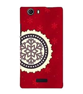 PrintVisa Designer Back Case Cover for Micromax Canvas Nitro 2 E311 (Red Colour Background Design :: Nice Logo Design :: Beautiful Color wallpaper :: Backgroung design pattern wallpaper)