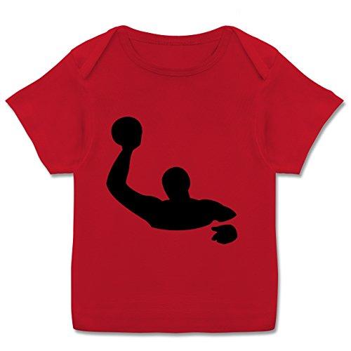 Sport Baby - Wasserball - 56-62 (2-3 Monate) - Rot - E110B - Kurzarm Baby-Shirt für Jungen und Mädchen