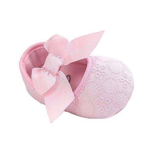 Ballerina-schuhe Baby-mädchen Für (Estamico Baby Mädchen Prinzessin Weiche Sohle Rutschfest Krippe Schuhe Rosa 0-6 Monate)