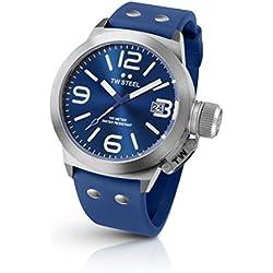 Tw Steel TW500 - Reloj con correa de caucho para hombre, color azul/gris