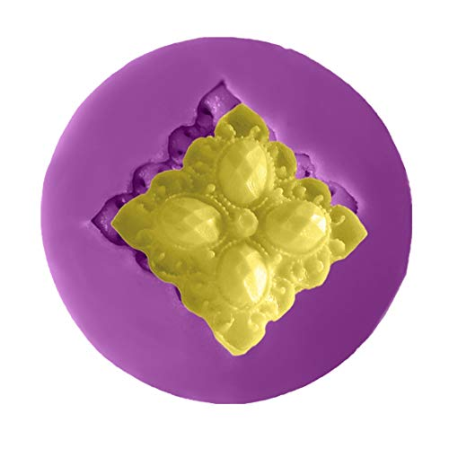(Silicone Mold - 3d Decorations Crystal Jewel Shape Chocolate Party Diy Fondant Baking Cooking Cake Decorating - Kids Tail Grade Smooth Large Tattoo Bowl Lotus Variety Hemisphere Soaps Make)