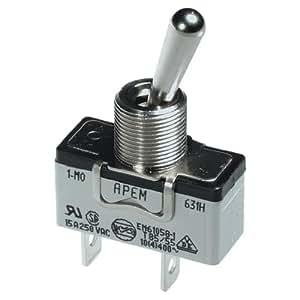 Interrupteur à levier 1 x Off/On APEM 631H/2 250 V/AC 15 A permanent 1 pc(s)