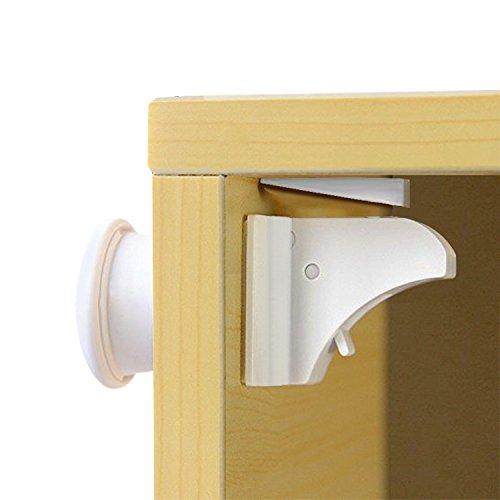 Sicherheitsschloss BESTOPE Baby Magnetschloss MagicLock - die unsichtbare Kindersicherung, Unsichtbarer Magic Lock 10 Magnet Schlösser 2 Schlüssel