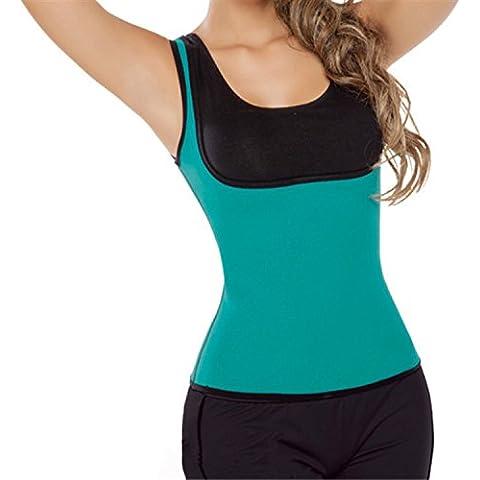 Neoprene con corsetto corsetto velocità di movimento di Lady fitness e sudore gilet corsetto , blue , l