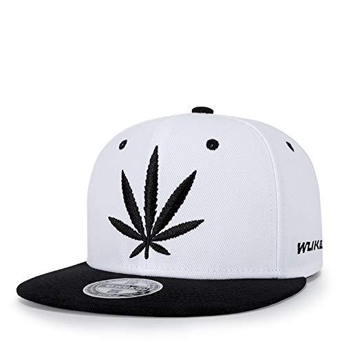 NBKLS Marijuana Weed Leaf Flat Peak Snapback Caps 5bb7ae23136