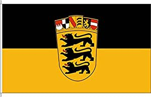 Tischfähnchen Landesdienstflagge Baden-Württemberg - Tischflaggenständer aus Chrom