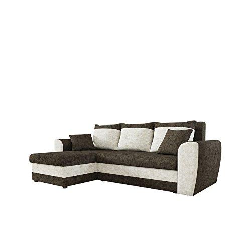 Mirjan24  Ecksofa Domo Lux, Eckcouch Couch mit Schlaffunktion, Bettkasten, L-Form Sofa! Farbauswahl, Bettfunktion! Wohnlandschaft! Seite Universal!