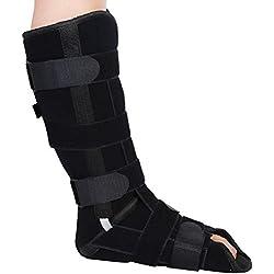 HaiQianXin Medizinische Beinorthese Knöchelbandage Verstellbare Beinstütze Strap Knöchelbandage Knöchelfraktur Fixateur (Size : M)