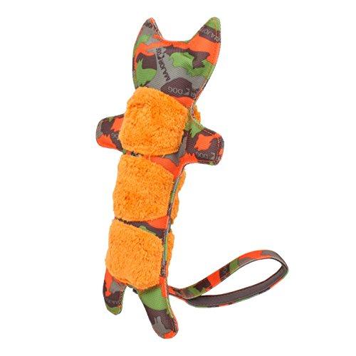 Major Dog Hundespielzeug Tiger-Training, 300x 140mm, Camouflage-Muster, Grün / Orange (Viel Stress-ball)