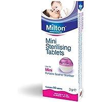 Milton Mini Tabletas Esterilizadoras - Pastillas para esterilizar y desinfectar la Copa Menstrual Sileu - Ideales para usar con el Esterilizador Plegable Sileu - 50 Mini Tabletas