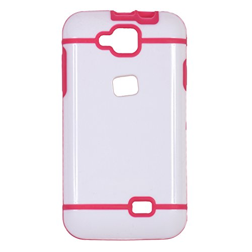 iCandy™ Dual Tone Hard PC Back Cover For Micromax Canvas Fun A63 - PINK  available at amazon for Rs.115