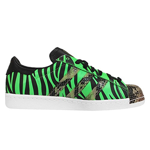 Adidas Superstar 80 Oddity Fashi, Pelle di serpente-bianco / nero / zebra / camo, 8 M Us SNAKESKIN-WHITE/BLACK/ZEBRA/CAMO