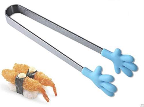 FHFF Pinze da Cucina Pinze per Alimenti in Acciaio Inossidabile da 1 Pz Clip da Appendere A Mano Pinze in Silicone Pinze per Alimenti Attrezzi da CucinaBlu