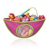 LoveSelfy Baby Bad Spielzeug Aufbewahrung, Kinder Toy Organizer Netz Tasche mit 4 Einstellbaren Hochleistungsschloss Saugnäpfen, Tragbare Sortiert Farbe Badespielzeug und Hammock für 1-5 Jahre Kids