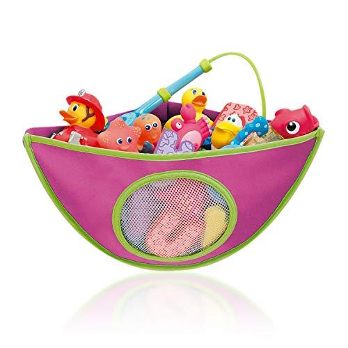 pielzeug Aufbewahrung, Kinder Toy Organizer Netz Tasche mit 4 Einstellbaren Hochleistungsschloss Saugnäpfen, Tragbare Sortiert Farbe Badespielzeug und Hammock für 1-5 Jahre Kids ()