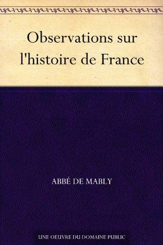 Couverture du livre Observations sur l'histoire de France