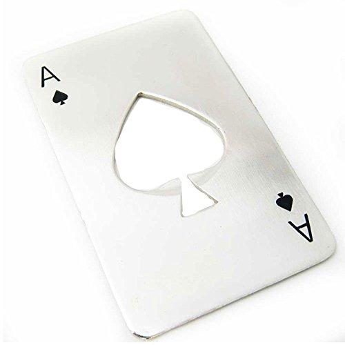 Flaschenöffner mit Form von Poker-Charta begeistern Sie Ihre Gäste Geschenk Original Einsparungen Raum (Dosenöffner Raum)