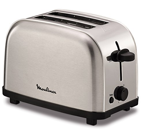 Moulinex lt330d 2slice(s) 700w stainless steel toaster - toasters (2 slice(s), stainless steel, stainless steel, buttons, rotary, 700 w)