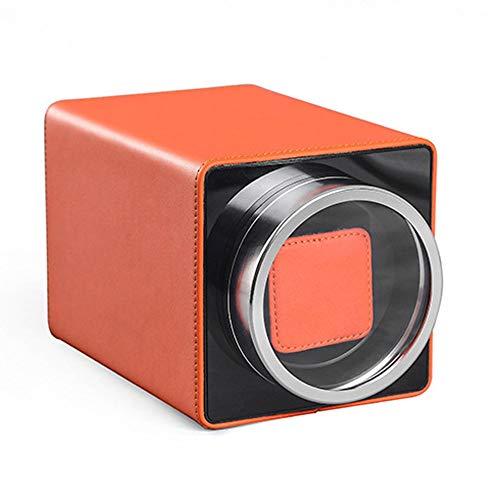 L-life Uhrenbeweger Watch Winder Carbon Fiber Piano Automatischer Einzeluhraufzug (Color : Orange) -