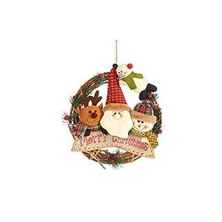 Wohlstand Coronas Navideñas Decoración de Navidad Papá Noel Colgante Árbol de Navidad Colgante Adornos para la Fiesta de Navidad (29 * 29cm)