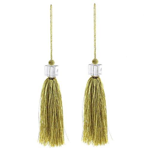 silky-quasten-anhanger-diy-fertigkeit-vorhang-drapierung-deco-2pcs-olive-farbe