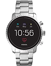 Fossil Men's Gen 4 Explorist HR Heart Rate Stainless Steel Touchscreen Smartwatch, Color: Silver (Model: FTW4011)