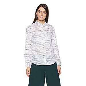 Allen Solly Women's Polka Dot Regular Fit Shirt