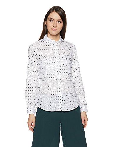 Allen Solly Women's Polka Dot Regular Fit Shirt