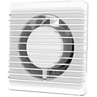 /Ø 100 mm Design Badventilator Hochglanz wei/ß mit R/ückstauklappe WLB100S L/üfter Ventilator Front Wandl/üfter Badl/üfter Ventilator Einbaul/üfter Bad K/üche leise 10 cm