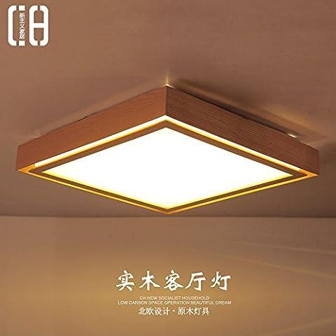 CHJK BRIHT Il Nordic Logs semplice Soggiorno Camera da letto di luce di soffitto in legno luce cinese nuova creatività artistica delle luci Led ,510*510mm quadrati